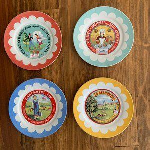 Camembert Cheese Salad Plates Retro Design